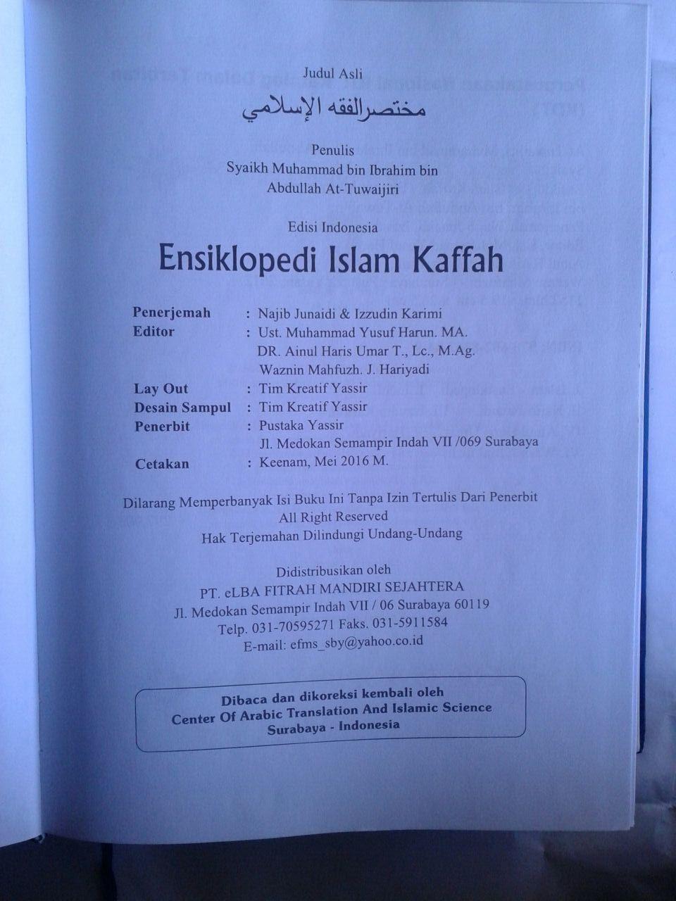 Buku Ensiklopedi Islam Kaffah Edisi Terlengkap isi