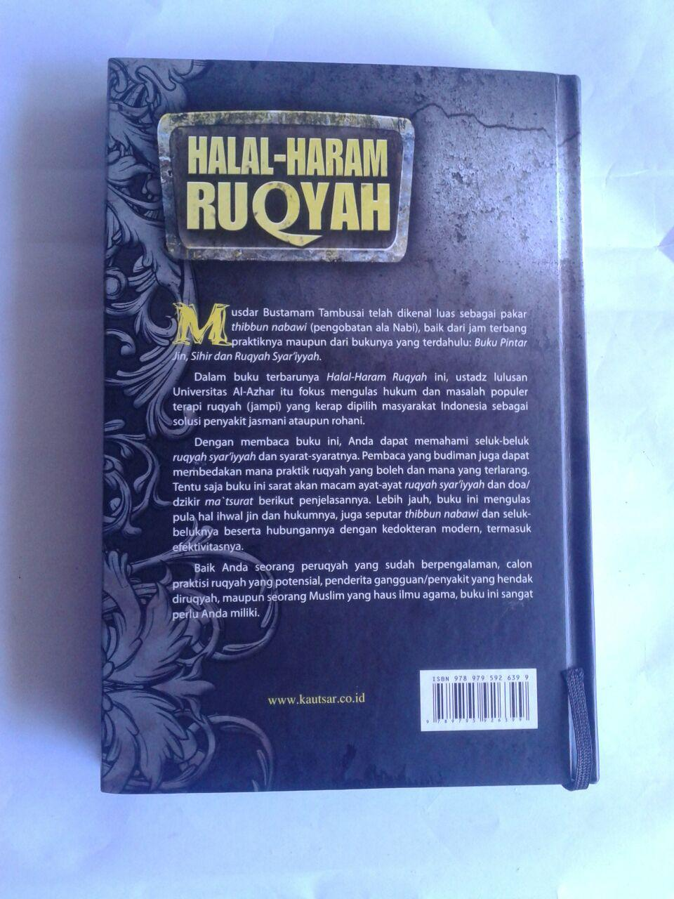 Buku Halal Haram Ruqyah Tuntunan Syariah Mengatasi Sihir cover