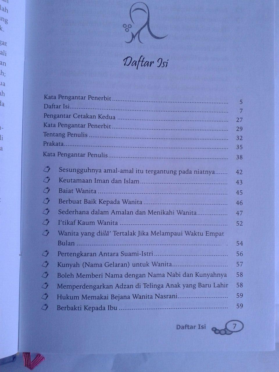 Buku Husnul Uswah Syarah Hadits-Hadits Wanita isi 3