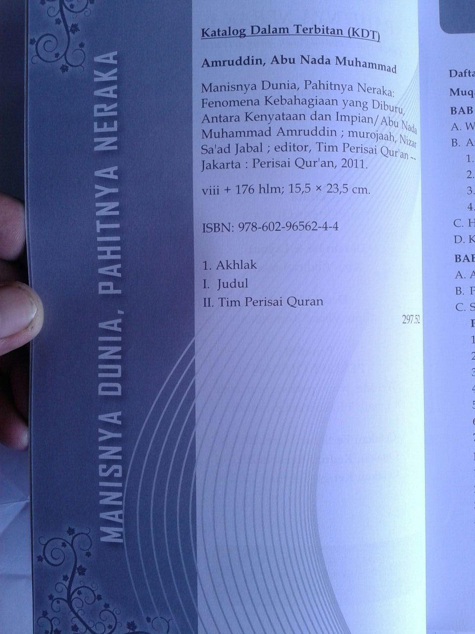 Buku Manisnya Dunia Pahitnya Neraka isi 3