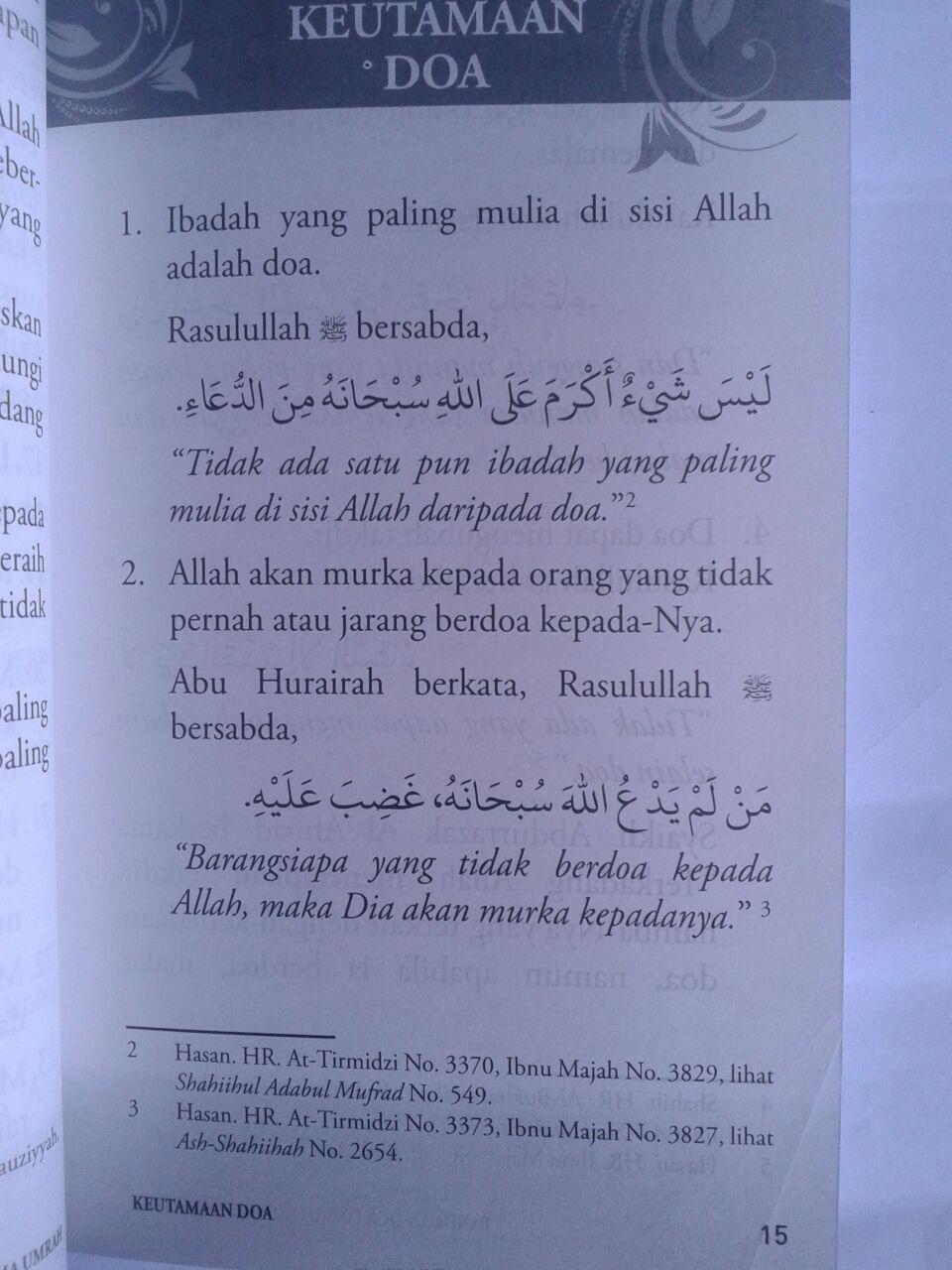 Buku Panduan Doa Dan Dzikir Selama Umrah isi 3