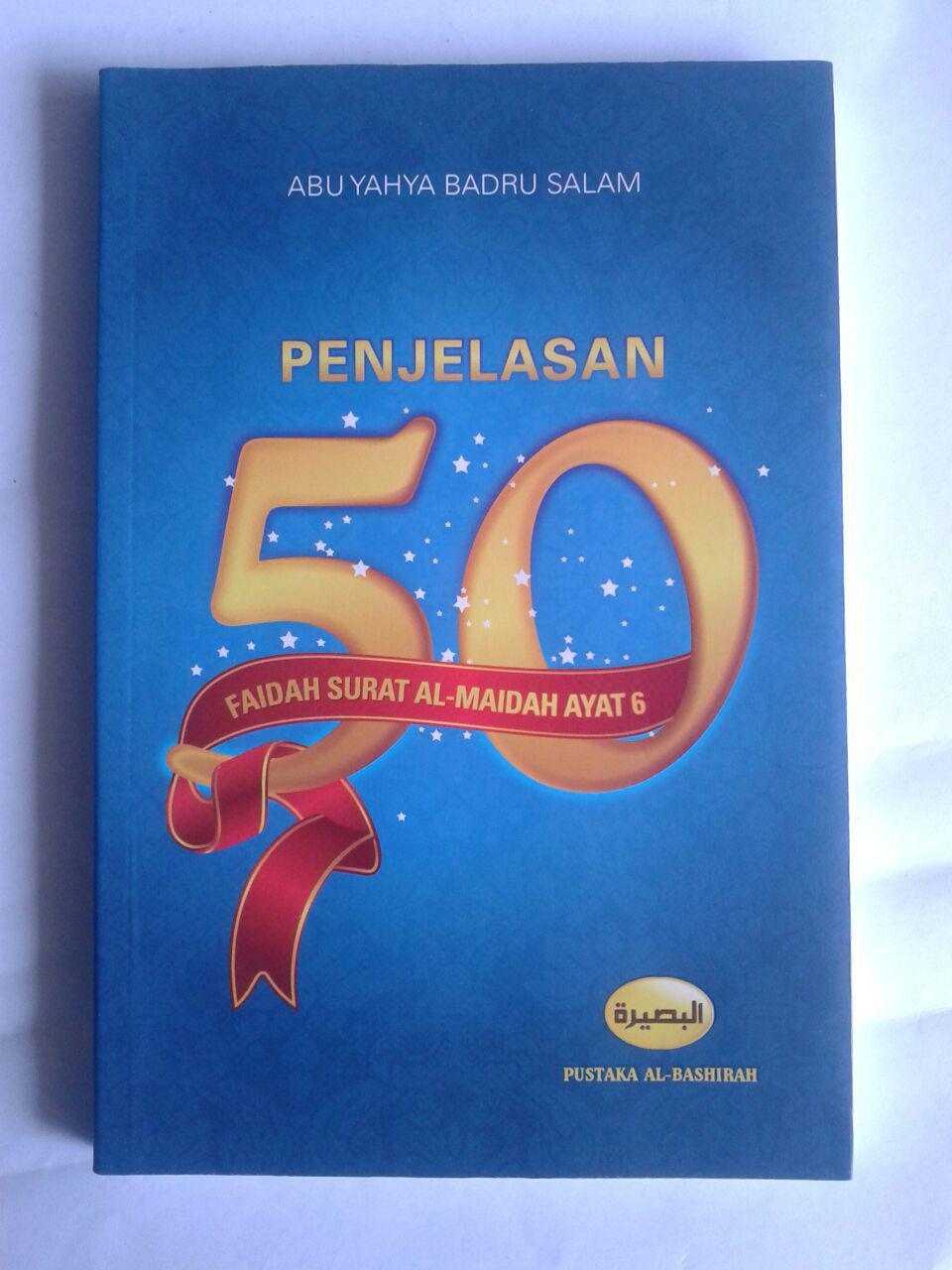 Buku Penjelasan 50 Faidah Surat Al-Maidah Ayat 6 cover 2