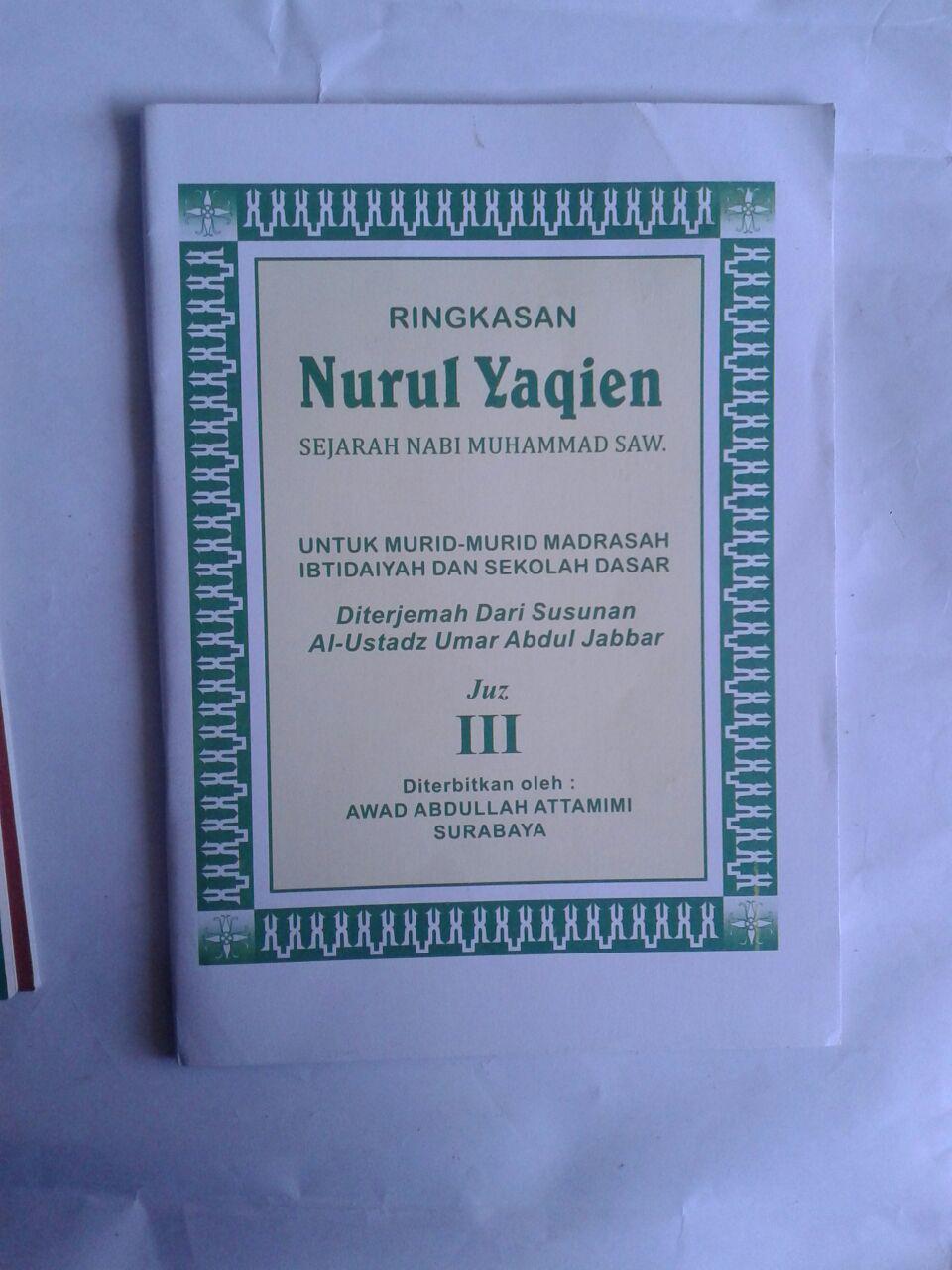 Buku Ringkasan Nurul Yaqien Sejarah Nabi Muhammad Set 3 Jilid cover