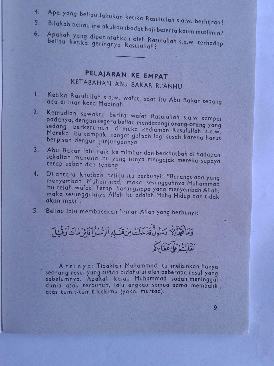 Buku Ringkasan Nurul Yaqien Sejarah Nabi Muhammad Set 3 Jilid isi 4