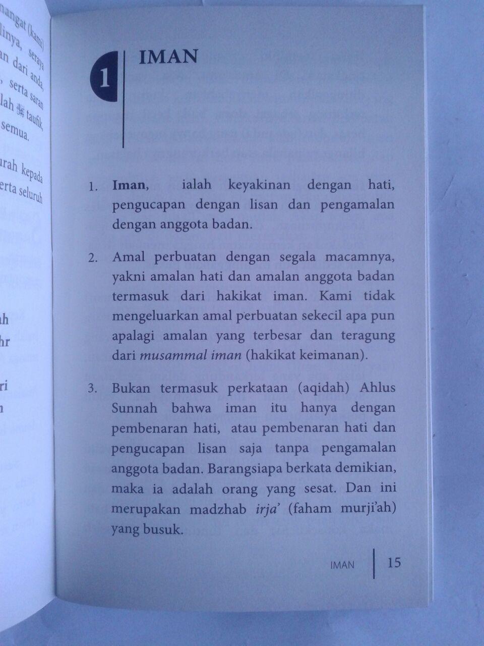Buku Saku Konsep Iman Menurut Ahlus Sunnah Wal Jama'ah isi 2