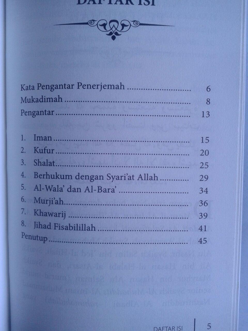 Buku Saku Konsep Iman Menurut Ahlus Sunnah Wal Jama'ah isi