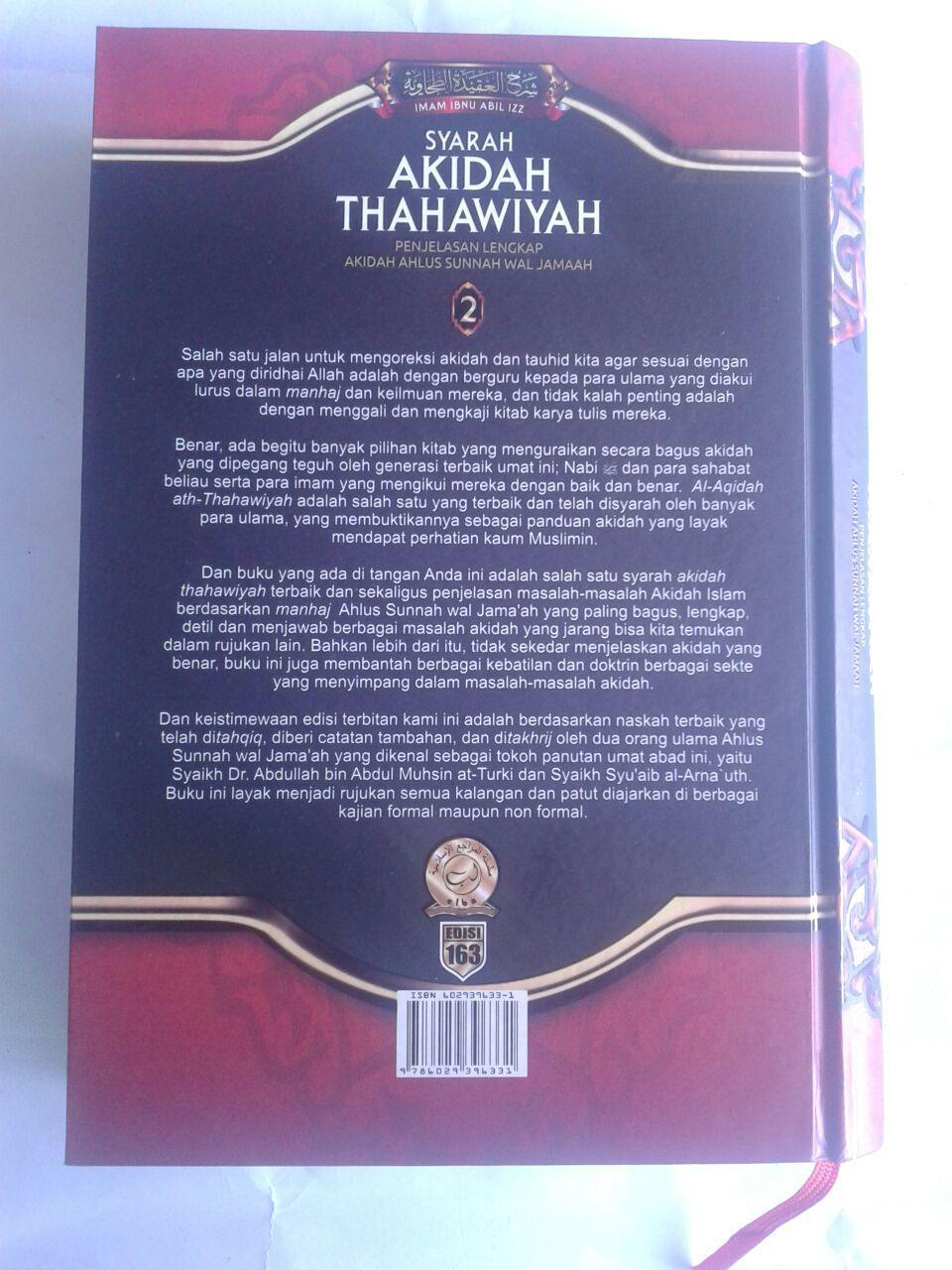 Buku Syarah Akidah Thahawiyah Akidah Ahlussunnah cover 2