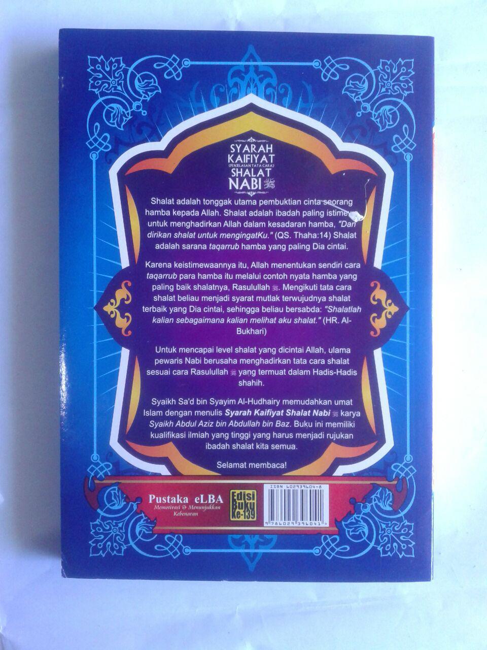 Buku Syarah Kaifiyat Penjelasan Tata Cara Shalat Nabi Syaikh Bin Baz cover