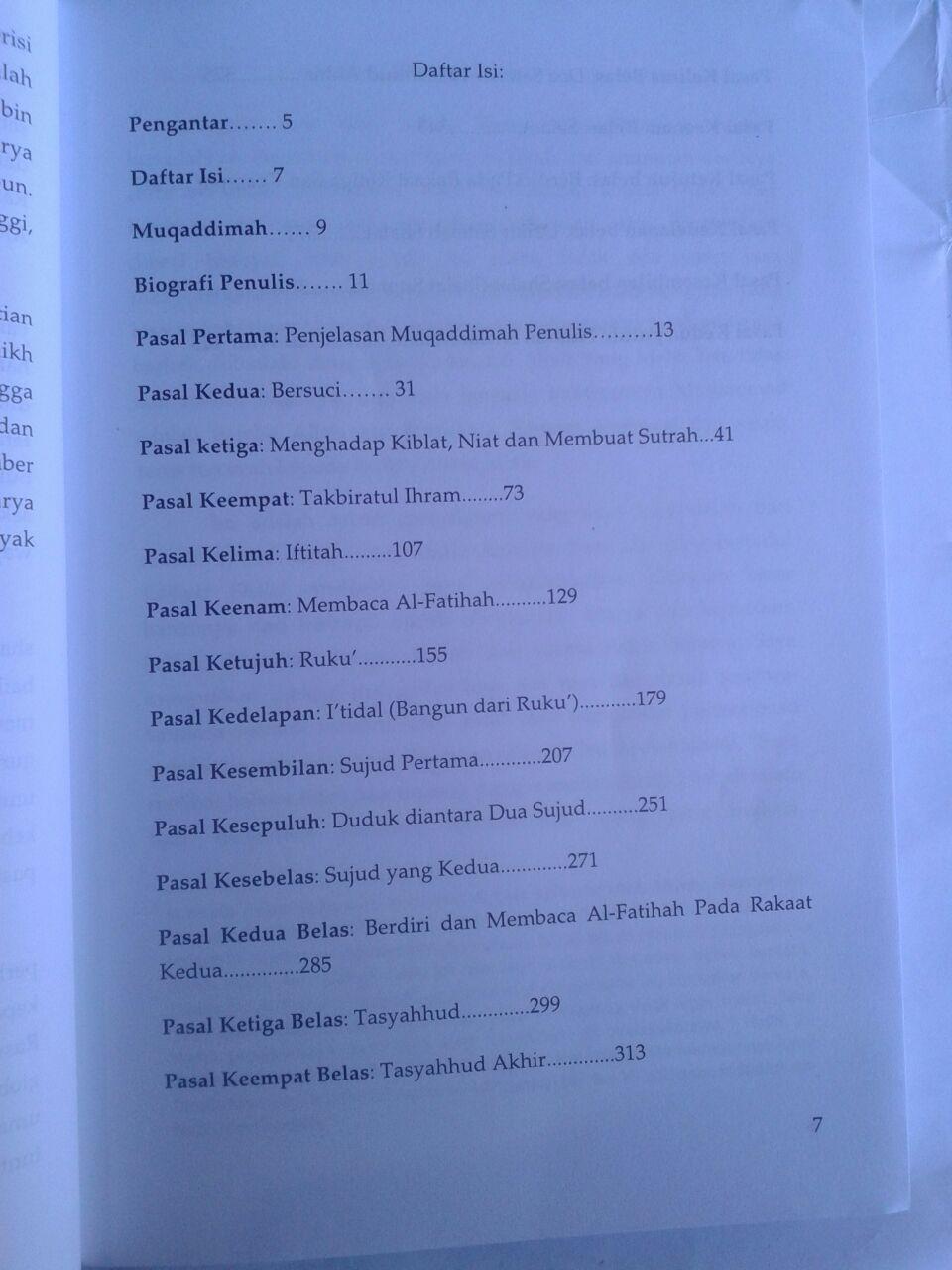 Buku Syarah Kaifiyat Penjelasan Tata Cara Shalat Nabi Syaikh Bin Baz isi 3