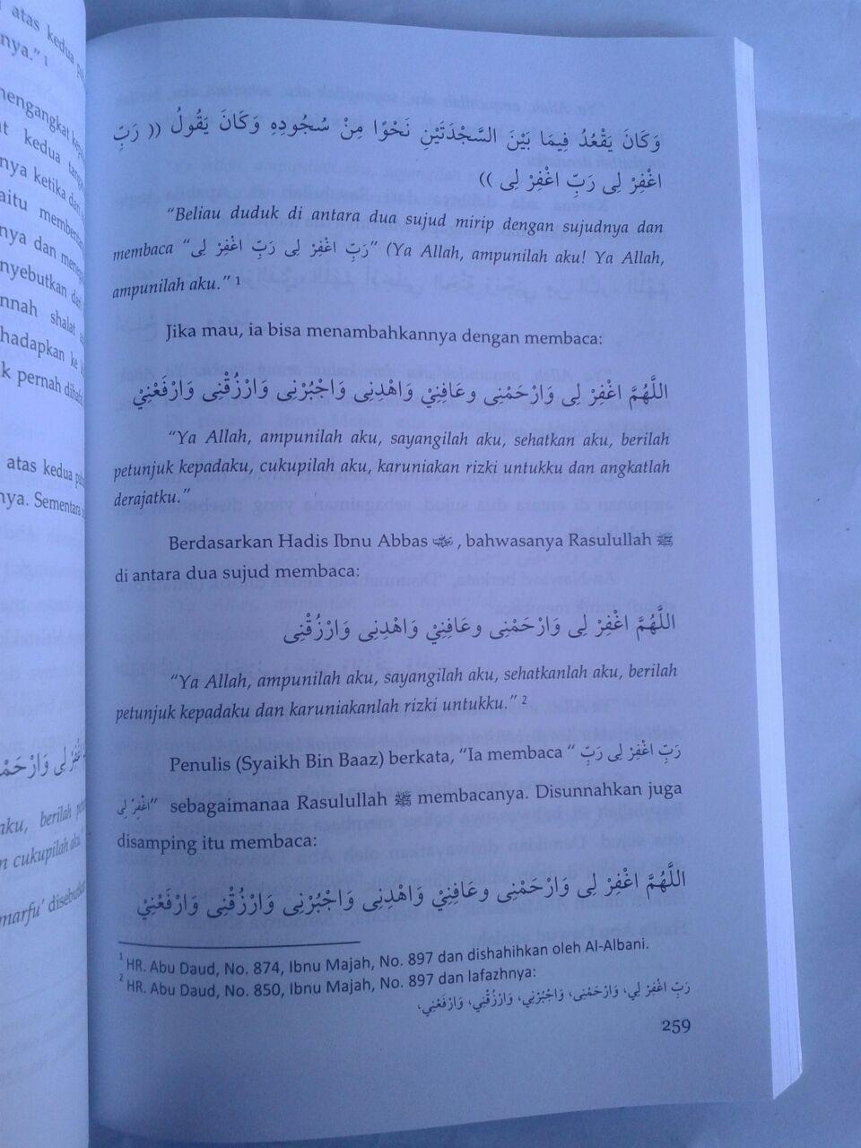 Buku Syarah Kaifiyat Penjelasan Tata Cara Shalat Nabi Syaikh Bin Baz isi 4