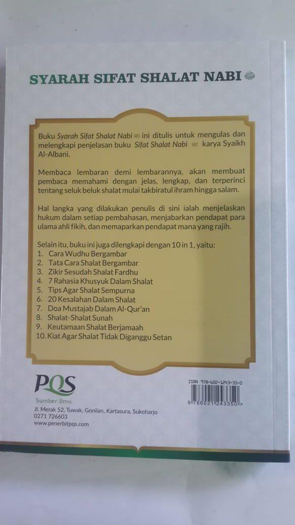 Buku Syarah Sifat Shalat Nabi Penjelasan Terlengkap cover