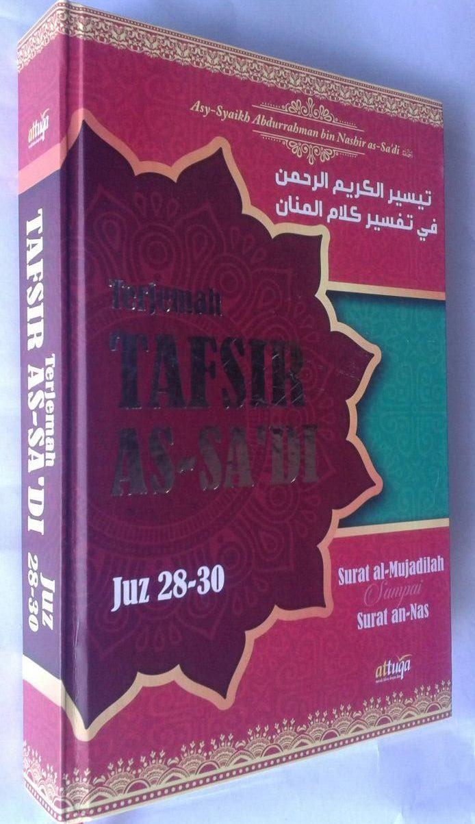 Buku Terjemah Tafsir As-Sa'di Juz 28-30 cover 2
