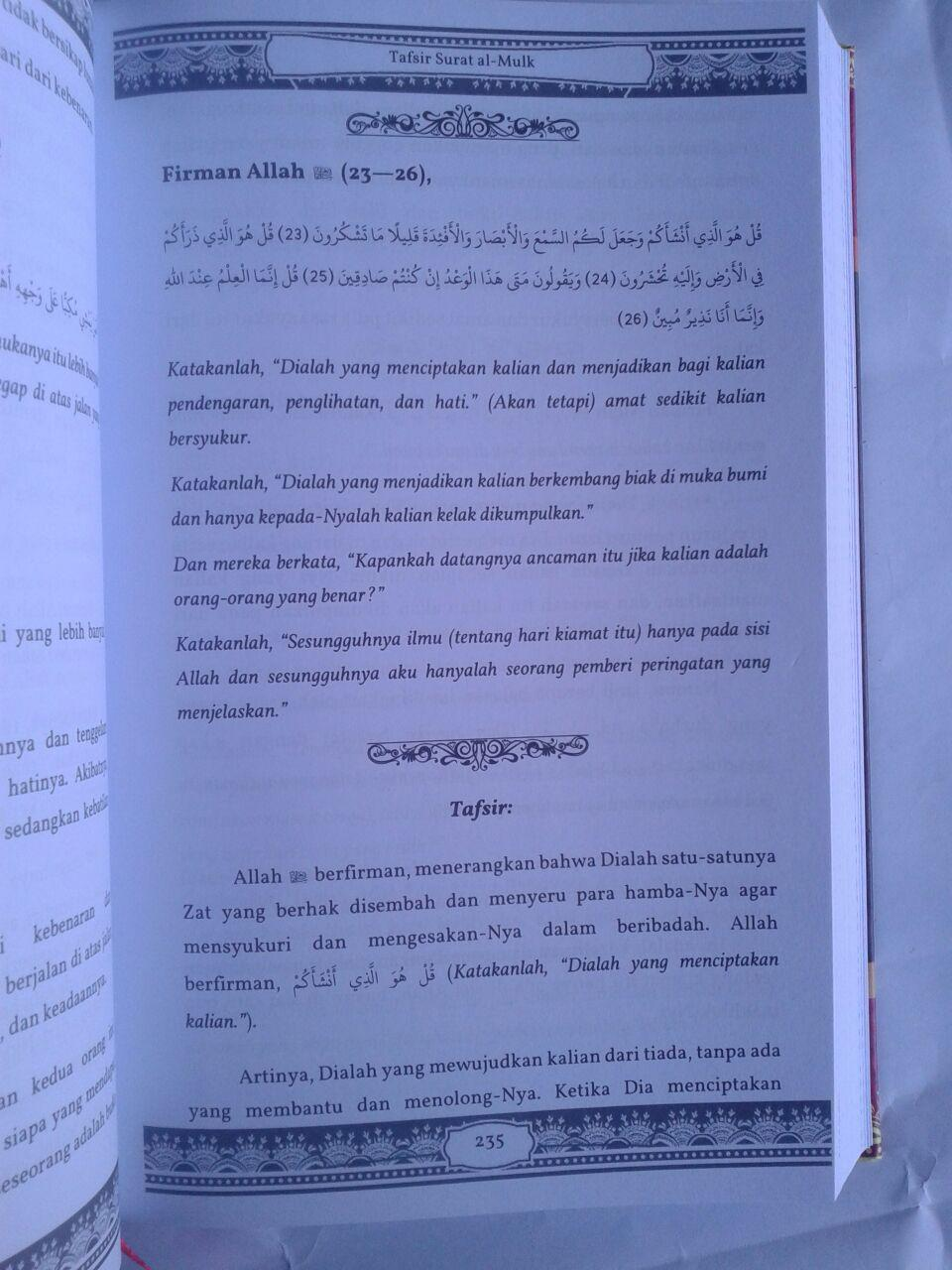 Buku Terjemah Tafsir As-Sa'di Juz 28-30 isi 3