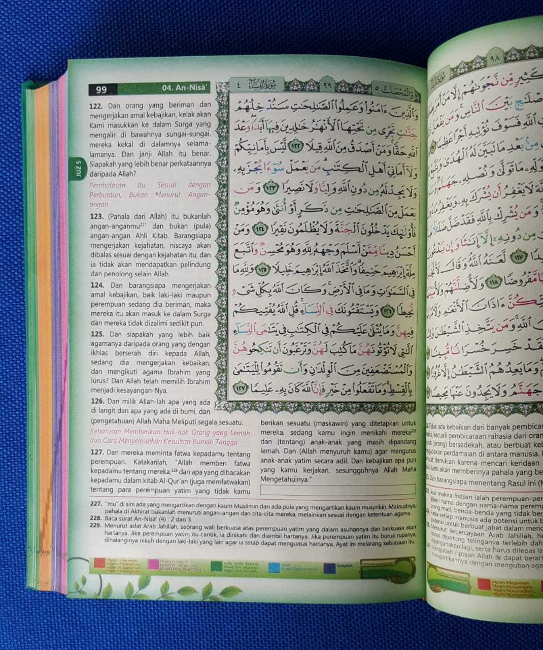 Al-Qur'an-Tajwid-Berwarna-Dan-Terjemah-Ibrahim Ukuran-A5-isi