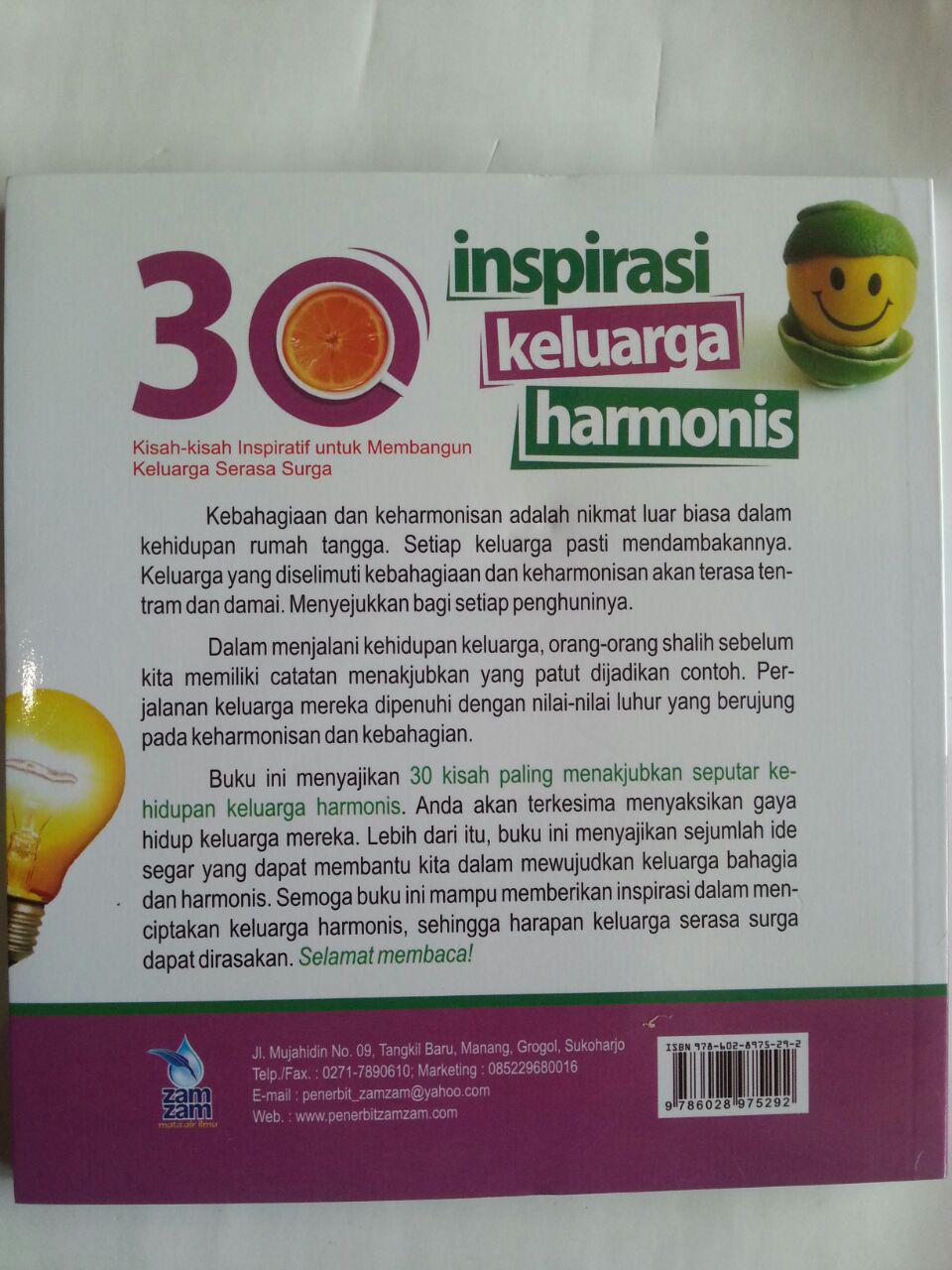 Buku 30 Inspirasi Keluarga Harmonis Kisah-Kisah Inspiratif cover