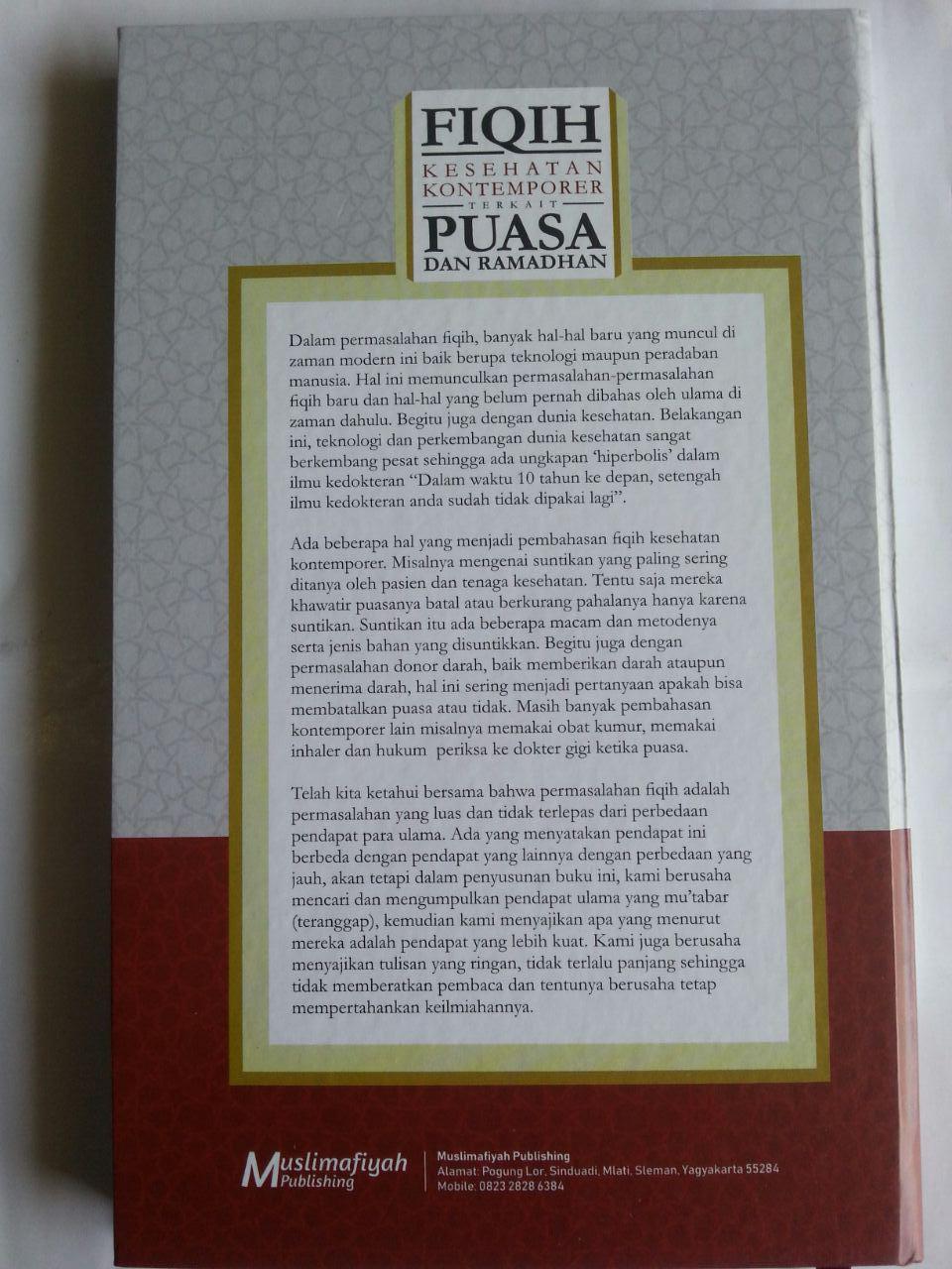Buku Fiqih Kesehatan Kontemporer Terkait Puasa Dan Ramadhan cover