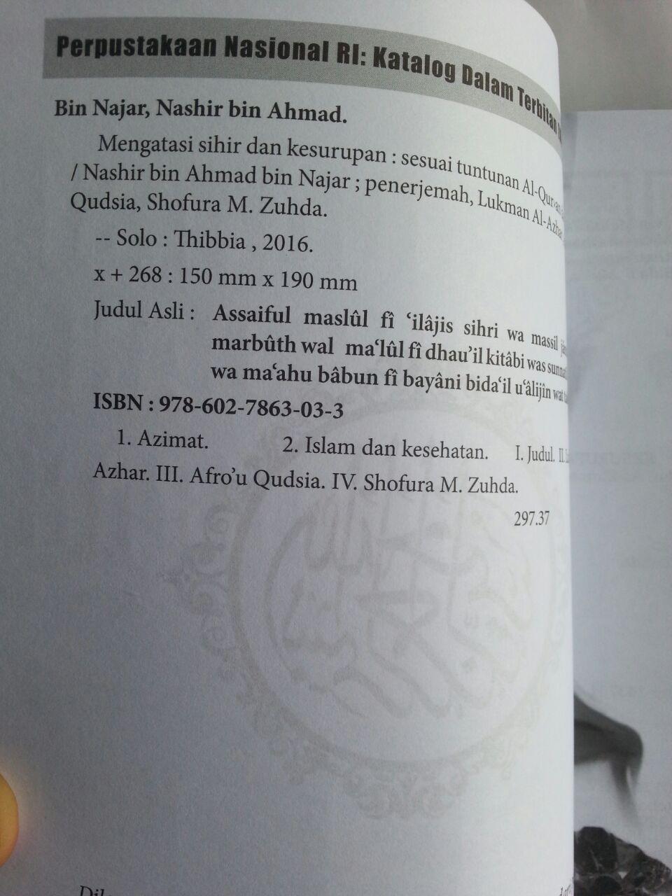Buku Mengatasi Sihir Dan Kesurupan Sesuai Al-Quran Sunnah isi
