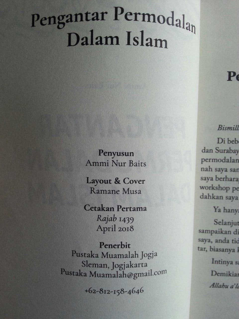 Buku Pengantar Permodalan Dalam Islam isi 2