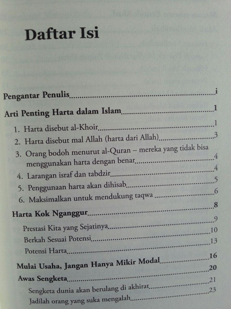 Buku Pengantar Permodalan Dalam Islam isi