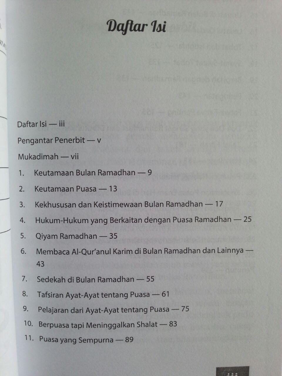 Buku Risalah Ramadhan Materi Kultum Sebulan isi 2