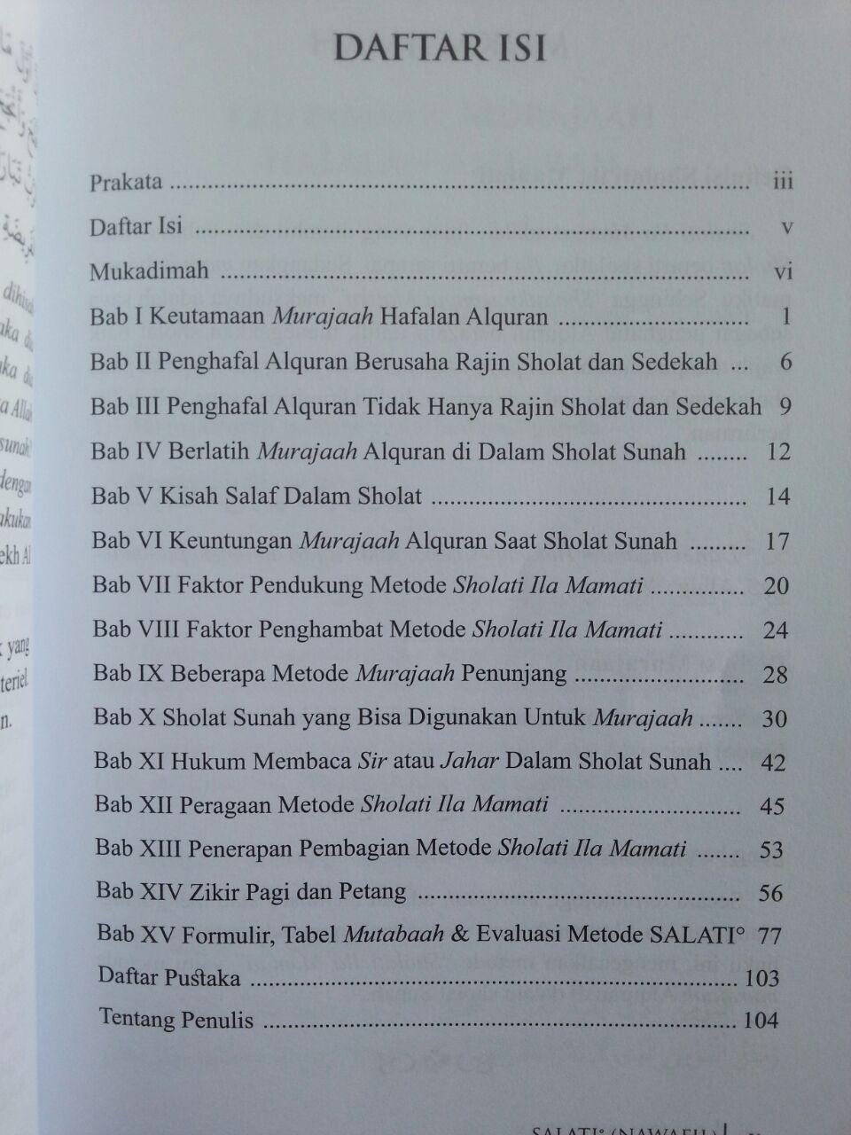 Buku Sholati Ila Mamati Metode Penerapan Murajaah Alquran Pada Sholat Sunnah isi