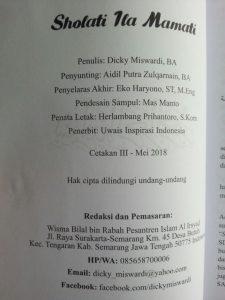 Buku Sholati Ila Mamati Metode Penerapan Murajaah Alquran Pada Sholat Sunnah isi 2