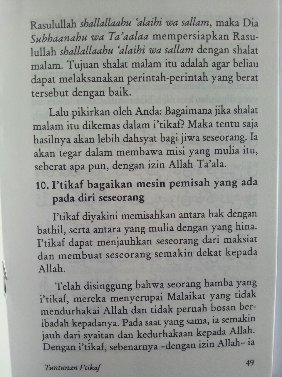 Buku Tuntunan I'tikaf Berdasarkan Al-Qur'an Dan As-Sunnah isi 2