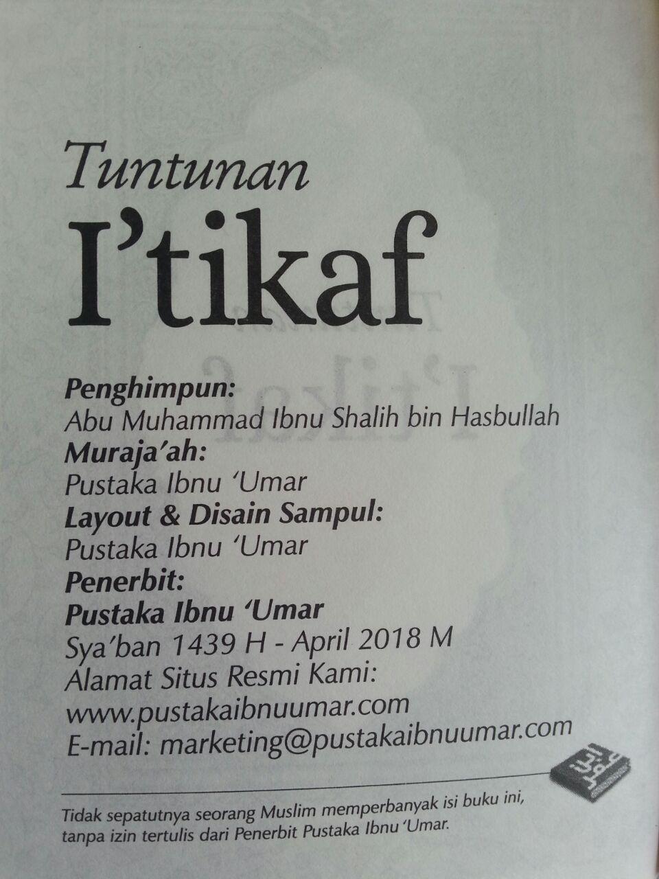 Buku Tuntunan I'tikaf Berdasarkan Al-Qur'an Dan As-Sunnah isi