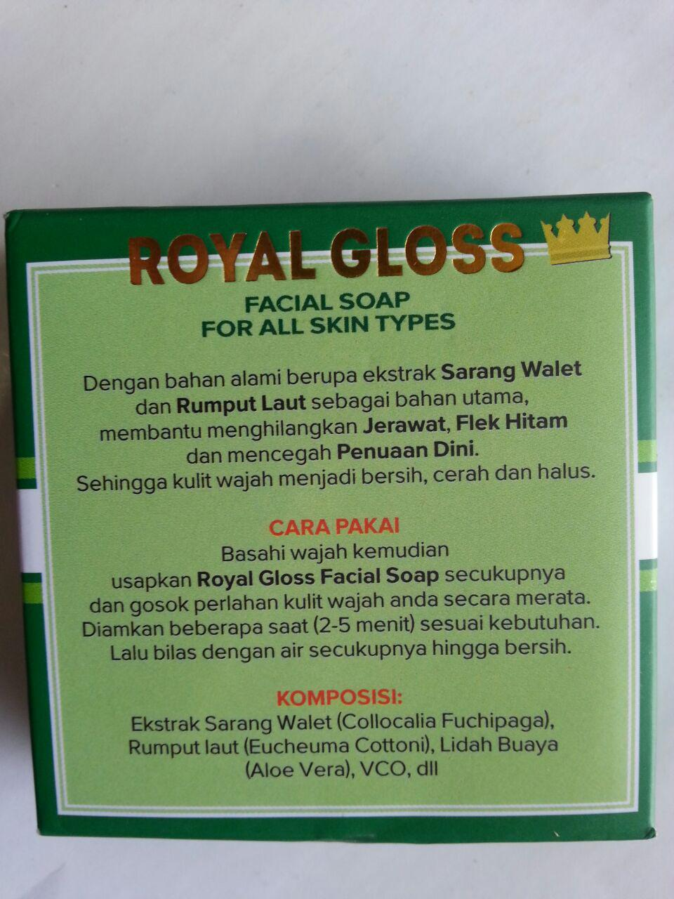 Sabun Wajah Royal Gloss Facial Foam cover 2