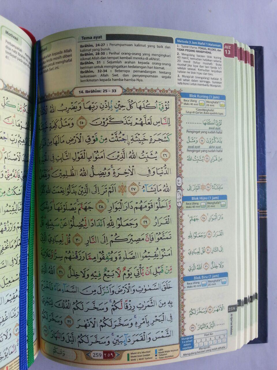 Al-Qur'an Hafalan Muraja'ah Metode 3 jam Hafal 1 Halaman A6 isi 3