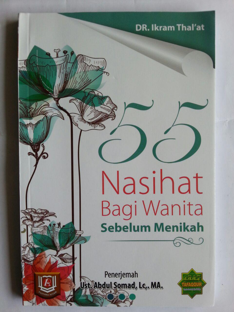 Buku 55 Nasihat Bagi Wanita Sebelum Menikah cover 2