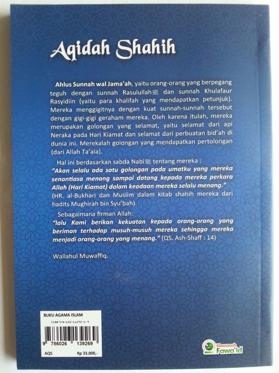 Buku Aqidah Shahih Yang Wajib Diyakini Oleh Setiap Muslim cover