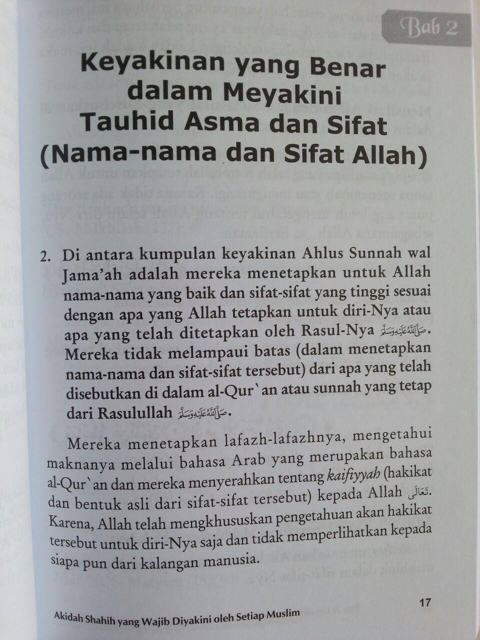 Buku Aqidah Shahih Yang Wajib Diyakini Oleh Setiap Muslim isi 3