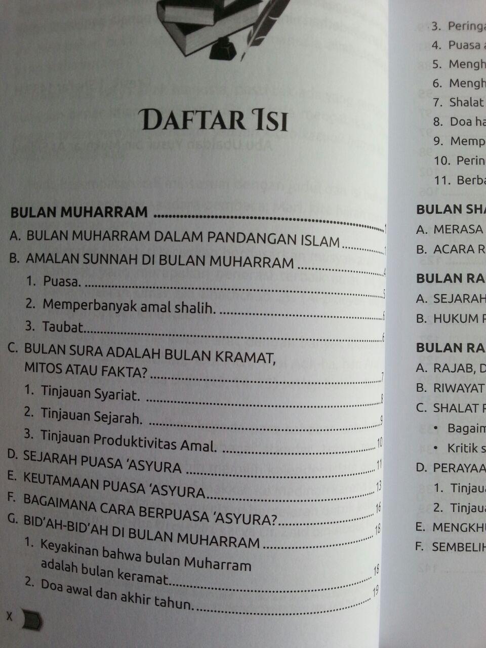 Buku Ensiklopedi Amalan Sunnah Di Bulan Hijriah isi 2
