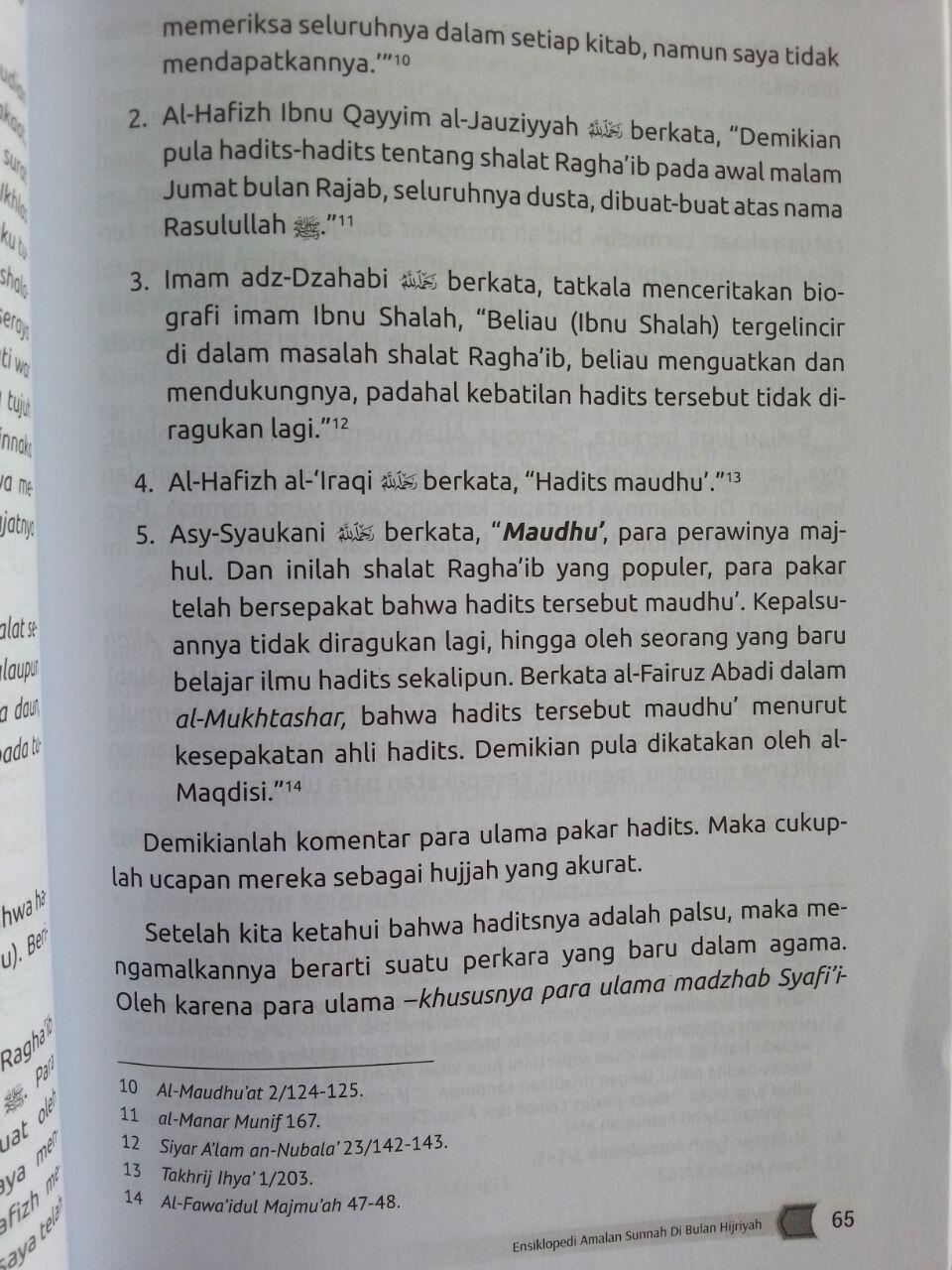 Buku Ensiklopedi Amalan Sunnah Di Bulan Hijriah isi 3