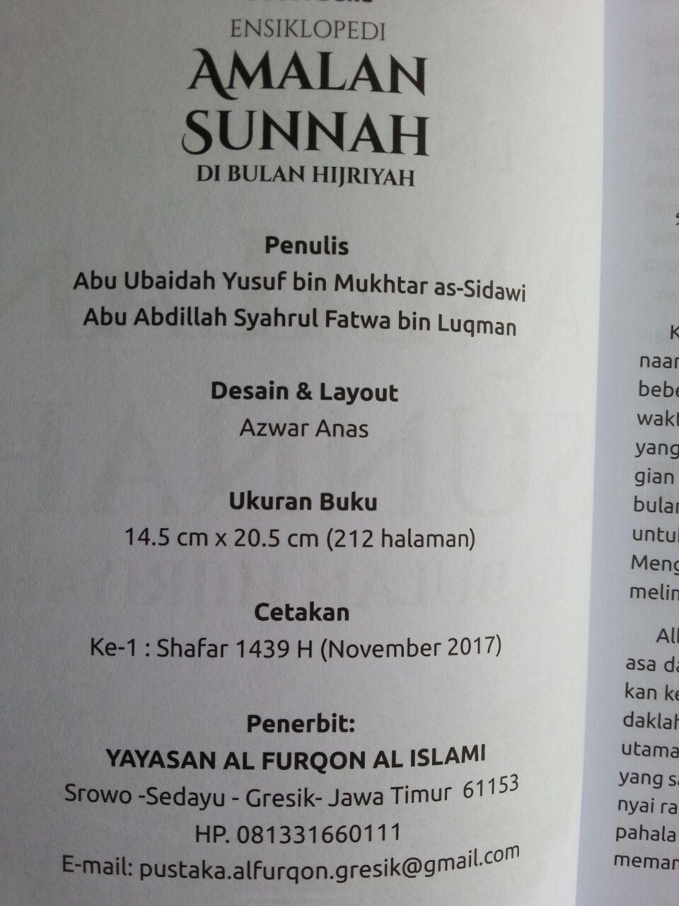 Buku Ensiklopedi Amalan Sunnah Di Bulan Hijriah isi