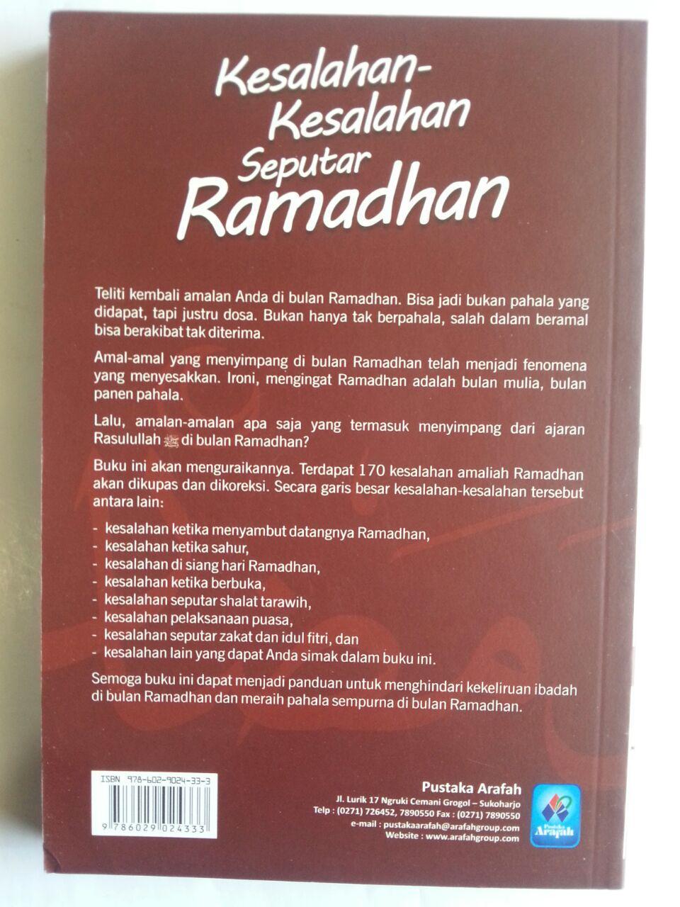 Buku Kesalahan-Kesalahan Seputar Ramadhan 170 Koreksi cover
