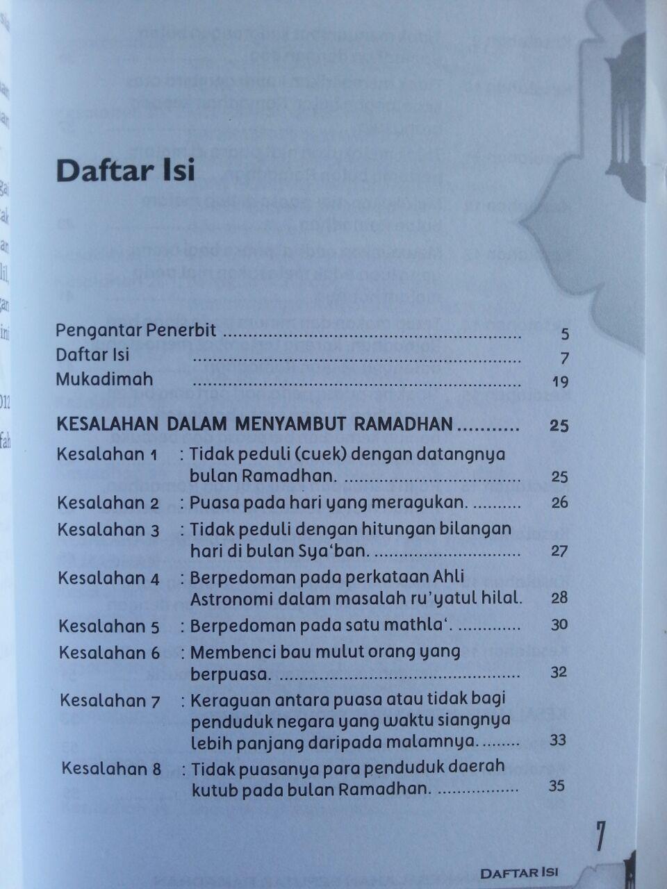 Buku Kesalahan-Kesalahan Seputar Ramadhan 170 Koreksi isi 2