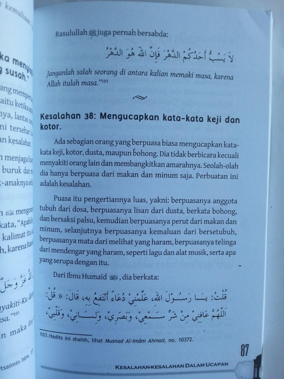 Buku Kesalahan-Kesalahan Seputar Ramadhan 170 Koreksi isi 3