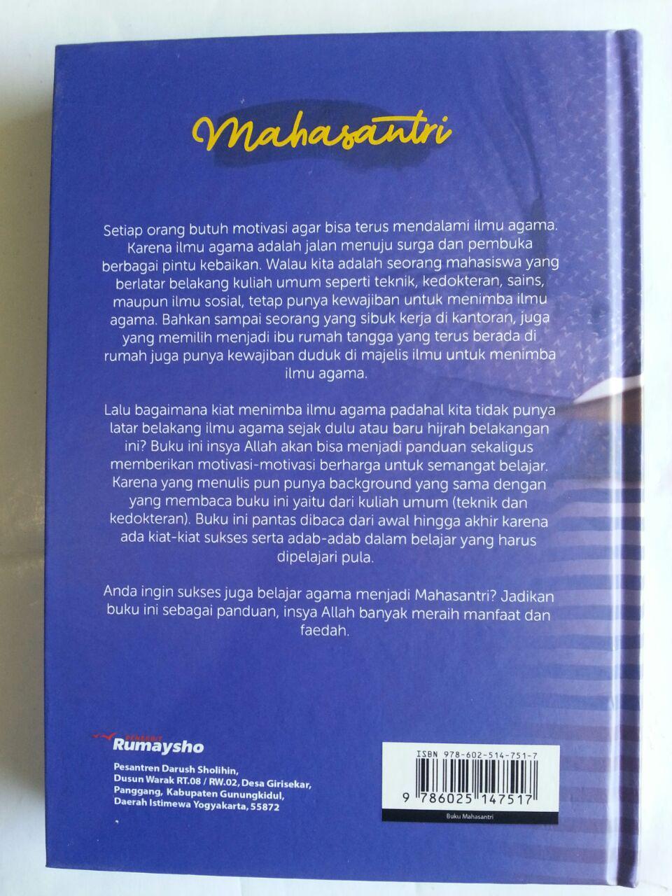 Buku Mahasantri Panduan Siswa Sukses Juga Belajar Agama cover