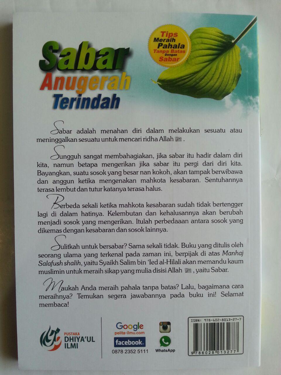 Buku Sabar Anugerah Terindah Tips Meraih Pahala Tanpa Batas isi 2