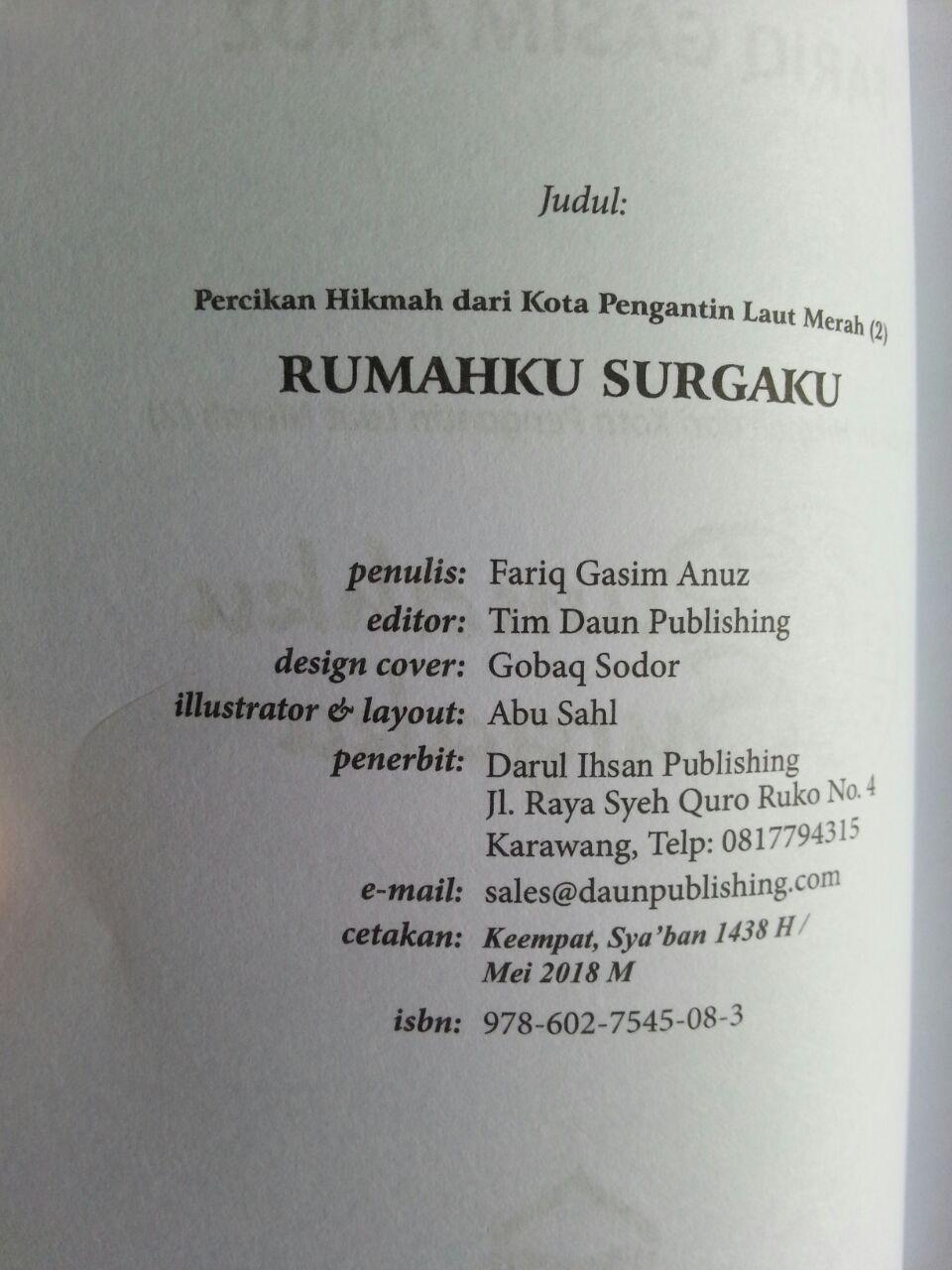 Buku Saku Rumahku Surgaku isi