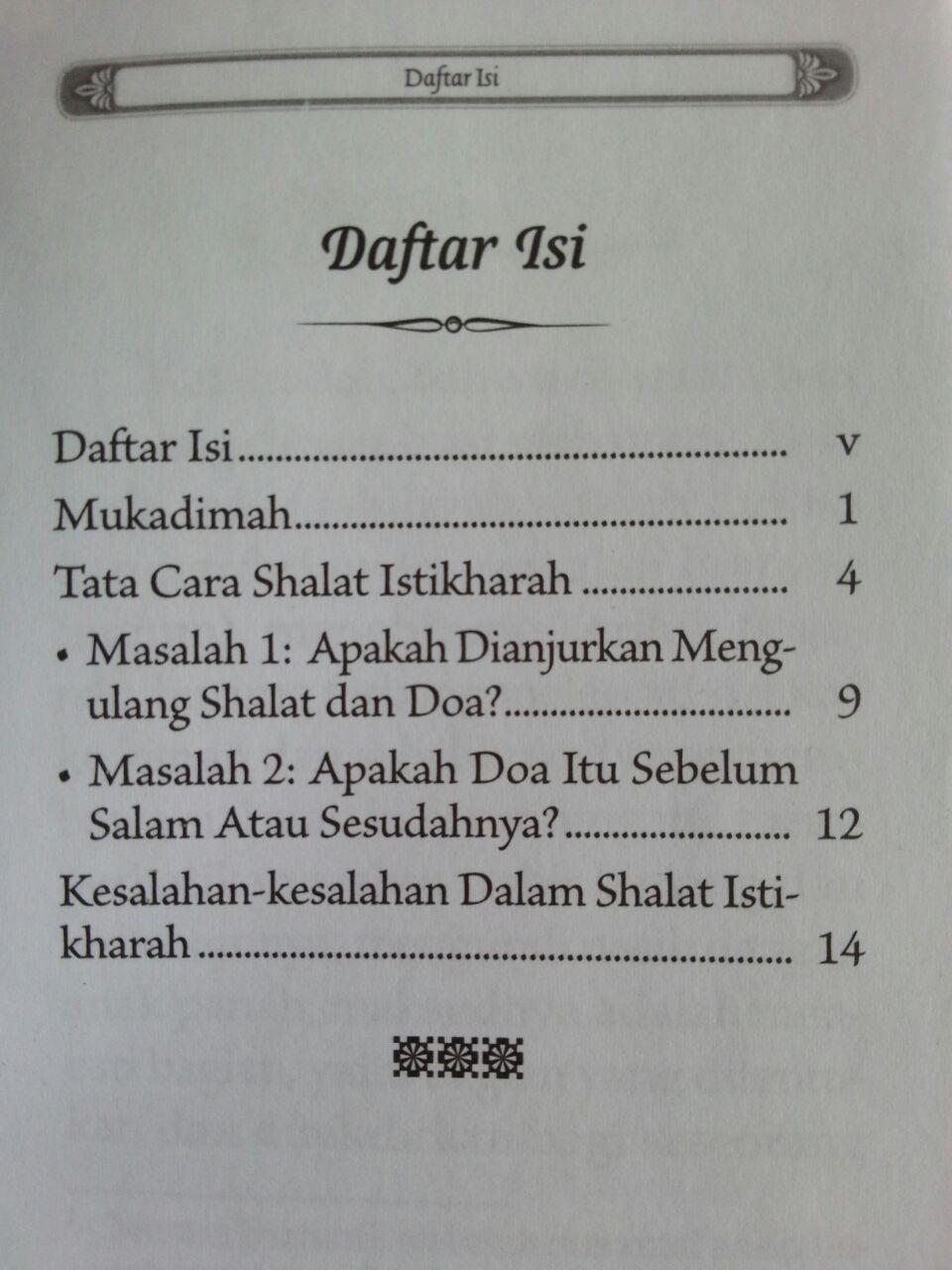 Buku Saku Tuntunan Shalat Istikharah Sesuai Sunnah Nabi isi 3
