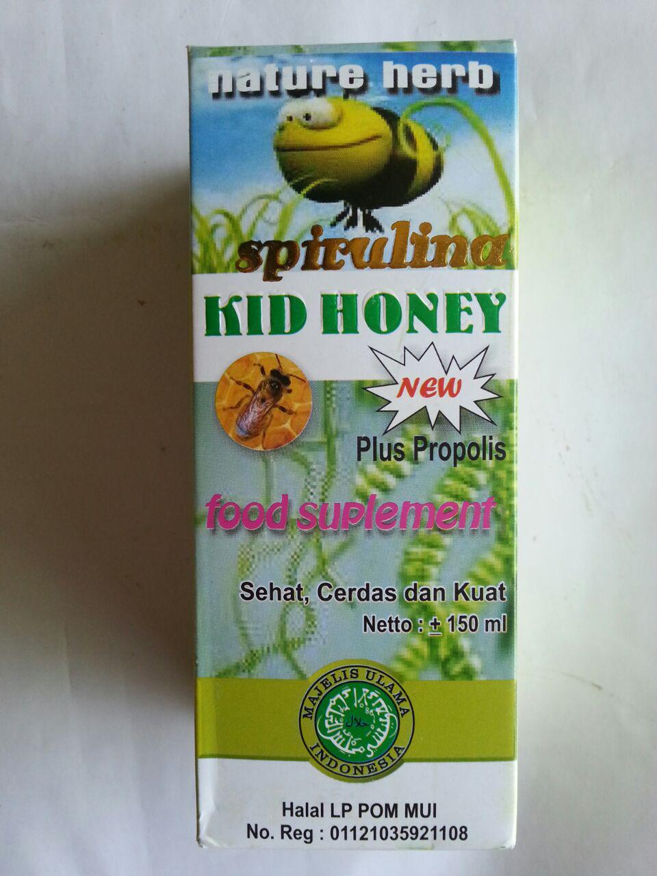 Madu Anak Spirulina Kid Honey New Plus Propolis cover 3