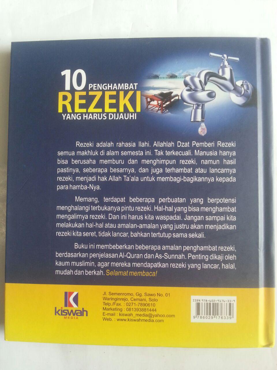 Buku 10 Penghambat Rezeki Yang Harus Dijauhi cover