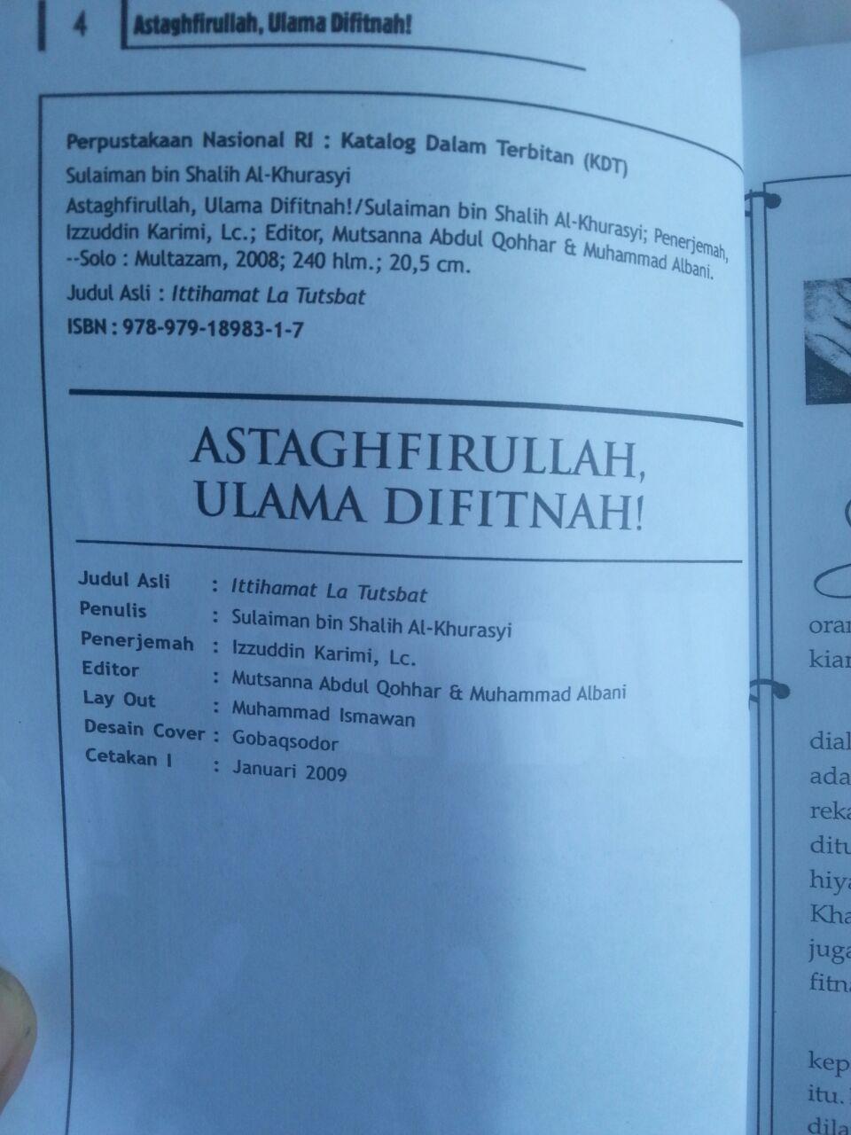 Buku Astaghfirullah Ulama Difitnah isi 2