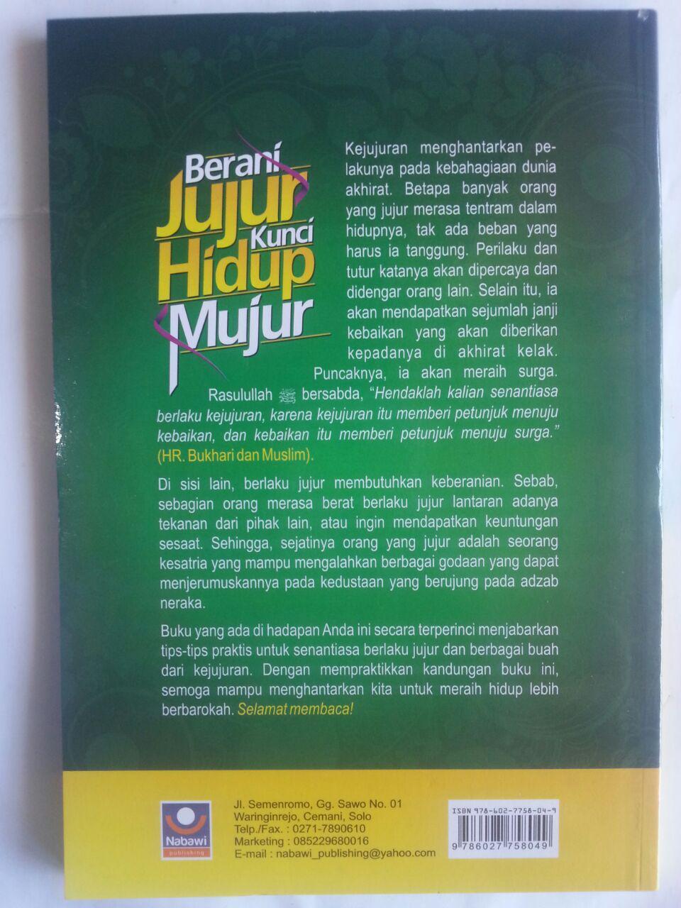 Buku Berani Jujur Kunci Hidup Mujur Tips Praktis cover