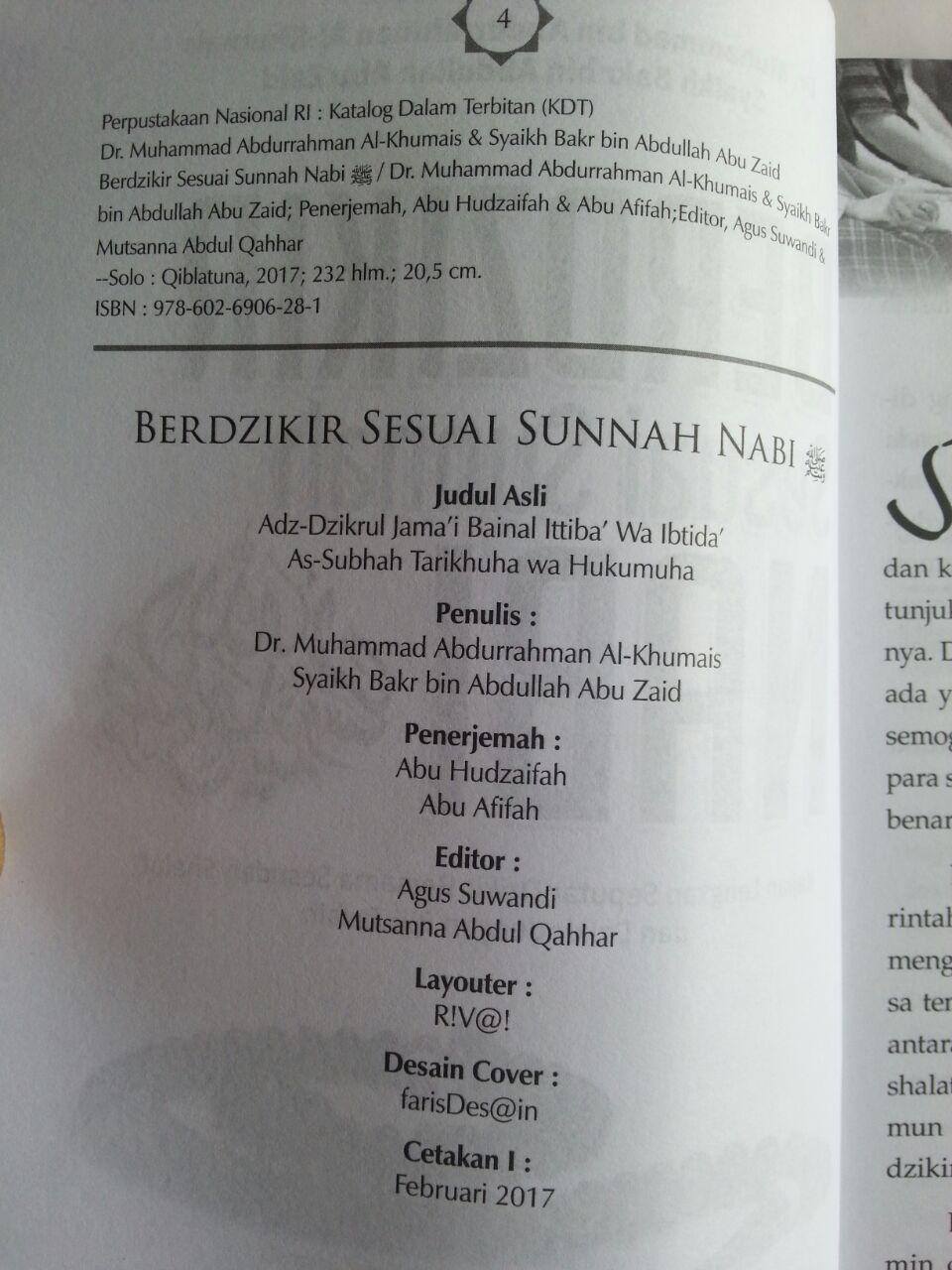 Buku Berdzikir Sesuai Sunnah Nabi Kajian Lengkap Seputar Dzikir Bersama isi 2