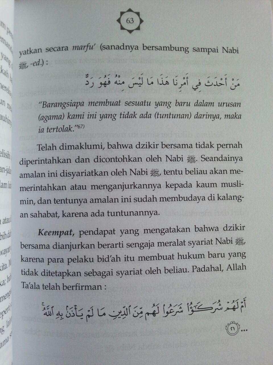 Buku Berdzikir Sesuai Sunnah Nabi Kajian Lengkap Seputar Dzikir Bersama isi 3