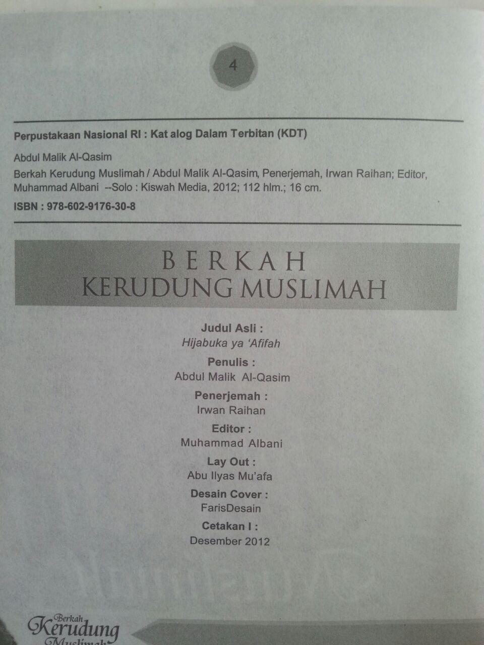 Buku Berkah Kerudung Muslimah Beragam Manfaat Berjilbab isi 2